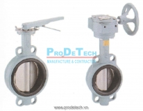 Cast iron flange clamp butterfly valve