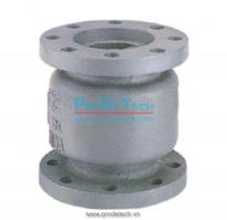 Cast iron muffle check valve